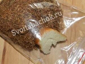 Увлажняем табак хлебом